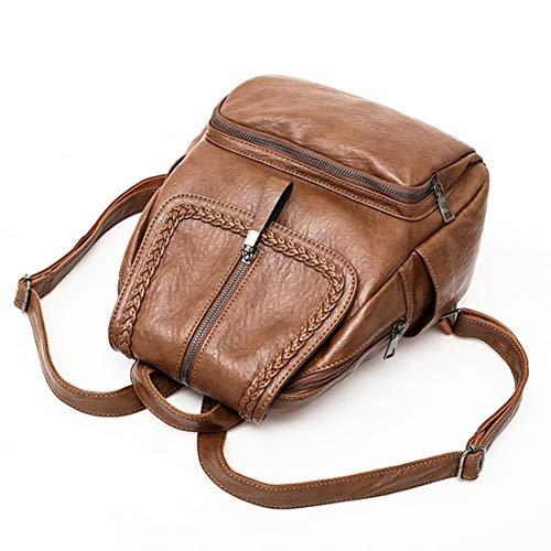 Women School Marrone a Borsa colore Waveni Outdoor tracolla Marrone Backpack xq6n4wIBY