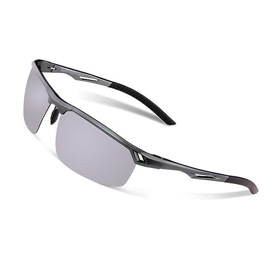 Duco 8550 Lunettes de soleil polaris eacute es pour homme Style pilote -  argent - Taille e53d4086aa73