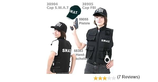 s.w.a.t Chaleco SWAT Police Chaleco Negro Niños tamaños: 128 – 164 ...