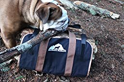 Northern Outback SUPERSIZED Firewood Log Carrier 16oz Canvas Wood Tote! - Best for Fireplaces - Wood Stoves - Firewood - Logs - Camping - Beaches - Landscaping!