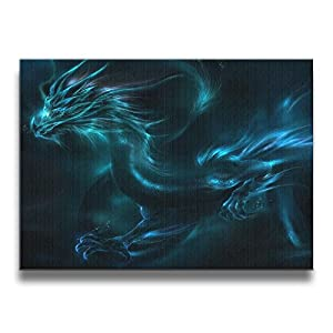 Shannon BrownriceS Dragon Family Frameless Decor Canvas Wall Art Painting For Home,Living Room,Bedroom,office Modern Decoration 1620 Inches