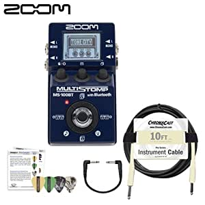 zoom ms 100bt multistomp guitar pedal with bluetooth kit includes patch cable. Black Bedroom Furniture Sets. Home Design Ideas