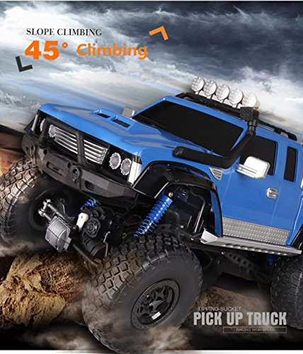 Toy, Play, Game, 2018 Newest electric Pick up truck model 2.4G 1:8 Scale large 4WD 4 wheel independent suspension RC Electric Fastest RC Truck, Kids, Children