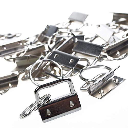Snap Key Fob - BCP 25sets 1 Inch Key Fob Hardware /Wristlet Sets with Key Ring