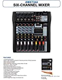 Audio2000'S AMX7342 Six-Channel Audio Mixer with