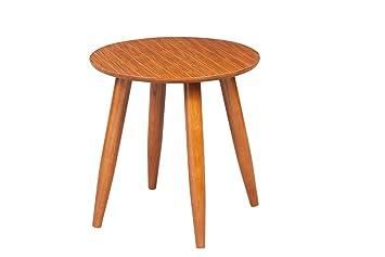 Boraam 33711 Zebra Series Varberg Side Table, Honey Oak
