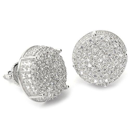 Rapper XXL Lab Diamond Micro pave Screw Back Stud Earring SHS 456 S