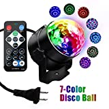 Disco Lights Sound Activated Party Lights Disco Ball Light DJ Stage Magic Ball LED Strobe Light with Remote Control 3W RGB 7 Color For Party Kids Birthday Xmas Karaoke Club Bar Holiday Dance Wedding.