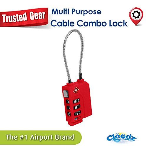 Cloudz TSA Wire Cable Lock - Red