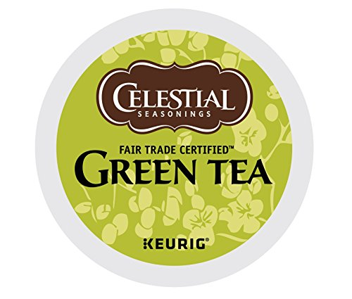 Celestial Seasonings Black Caffeine Free Tea (Celestial Seasonings Natural Antioxidant Green Tea, Keurig K-Cups, 72 Count)