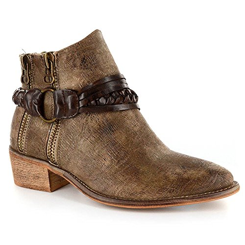 Corkys Women's Chief Taupe Distressed Boots 8 by Corkys