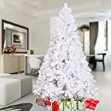KARMAS PRODUCT 6 Ft High Christmas Tree 800 Tips Decorate Pine Tree with Metal Legs White
