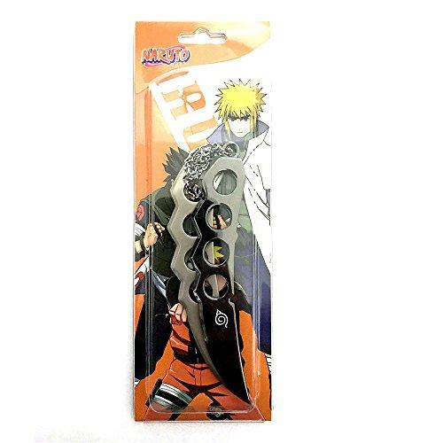 Naruto Minato Asuma Black & Silver Shuriken Ninja Anime Cosplay