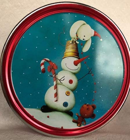 Christmas Holiday Butter Cookies Tin (Romantic Sleigh Ride) -