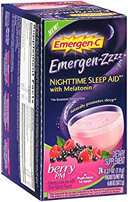 Amazon.com: Alacer Emergen-C Nighttime Berry PM Sleep Aid, 24 Count: Health & Personal Care