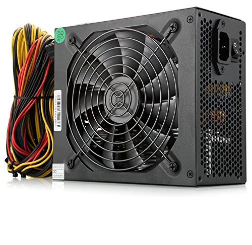 Mining Machine - ATX Power Supply 1600w Mining Server Power Supply 1600w Gold PSU Mining 140mm Silent Fan With Mining Machine For 6 GPU Rig Ethereum Bitcoin Miner(160-240v)