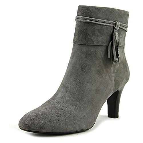 Bandolino Women's Willaria Boot, Grey Suede, 6.5 M US (Heels Leather Bandolino)