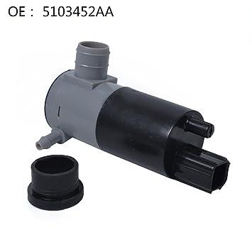 Bomba limpiaparabrisas wischwa sser Bomba para sistema de limpieza Scheibe 5103452 AA, 12 V, 1 unidades: Amazon.es: Coche y moto