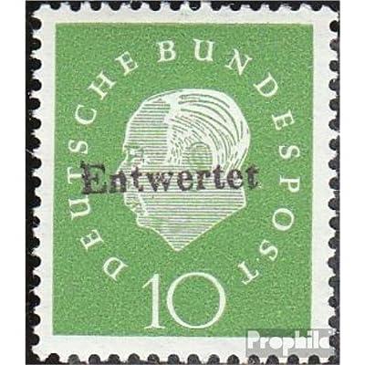 RFA (FR.Allemagne) 303y testés avec Attest floureszierendes papier Versuchsdruck 1959 Président heuss (III) (Timbres pour les collectionneurs)