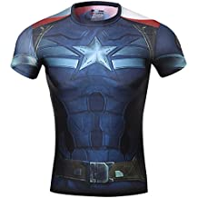 Red Plume Mens Compression Sports Fitness Shirt, Armor America Teamleader T-Shirt