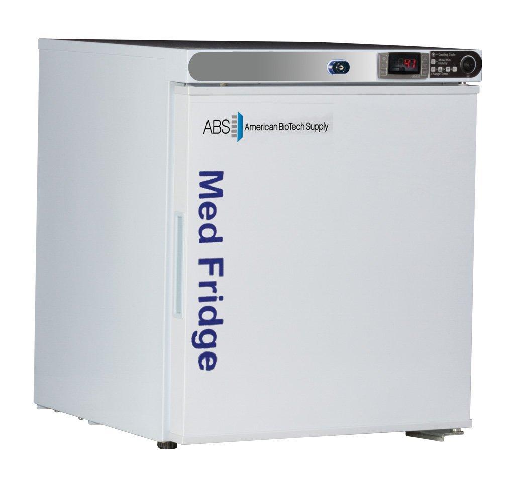 American BioTech Supply PH-ABT-HC-UCFS-0104 Premier Pharmacy/Vaccine Undercounter Refrigerator, Freestanding, 1 cu. ft. Capacity, White