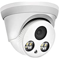 (Hikvision Compatible) 8MP Outdoor Security POE Colorvu Camera, 2.8mm Fixed Lens, 24 Hours Full time Color,Build-in Mic…