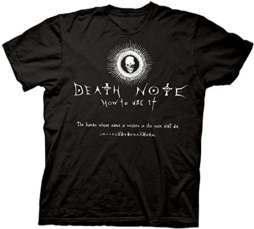Men/'s Death Note T-shirt in black