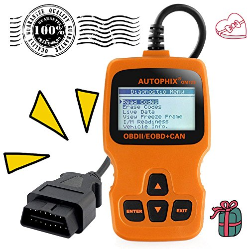 Price comparison product image Tektree Universal OBD II Scanner Car Engine Fault Code Reader OM123 CAN Diagnostic Scan Tool, Read and Clear Error Codes for Newer OBD2 Protocol Vehicle