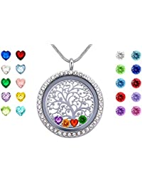 Family Tree of Life Floating Charms Memory Locket, Diy...