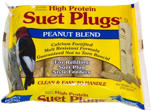 Peanut Blend (Wildlife Sciences 4-Piece Suet Plugs Peanut Blend)