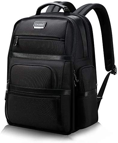 BOPAI Multi-Function Travel Backpack for Men 15.6 inch Laptop Backpack Business Casual Daypack Anti Theft Backpack Water Resistant USB Laptop Backpack Black