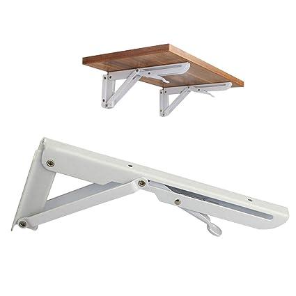 amazon com huaide 2pcs folding shelf brackets wall mounted triangle
