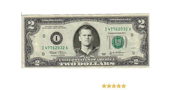 Tom Brady $2 Dollar bill Mint real
