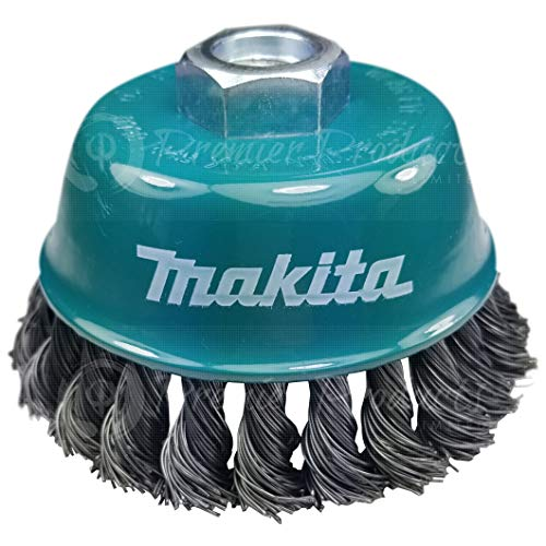 Makita 1 Piece - 4 Inch Knotted Wire Cup Brush For Grinders - Heavy-Duty Conditioning For Metal - 4