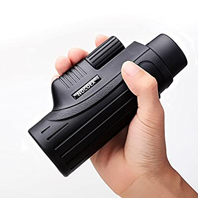 NOCOEX 10x42 Pocket-size Monocular Scope - High Power Bright and Clear Range of View - Single Hand Focus Telescope (Black) from NOCOEX