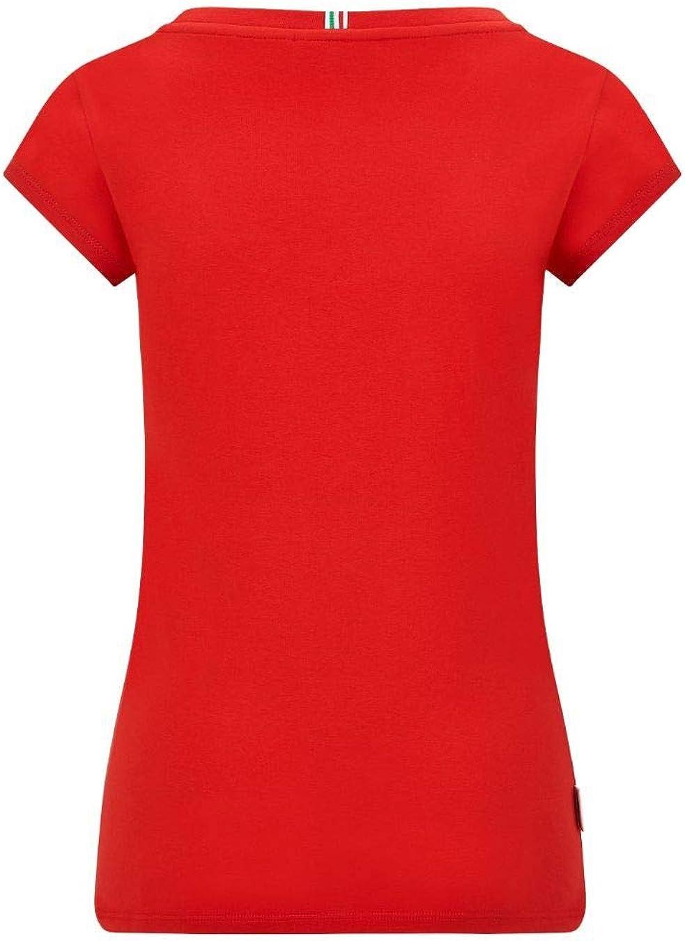 Ferrari Scuderia Team Motorsport F1 Offizielles Formel 1 Damen T-Shirt S. Rot