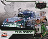 JOHN FORCE HAND SIGNED 8x10 COLOR PHOTO+COA CELEBRATING 25 YEARS NHRA - Autographed Extreme Sports Photos from Sports Memorabilia