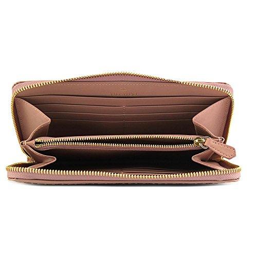 Valentino Garavani Lace Laser Cut Wallet Donna Beige
