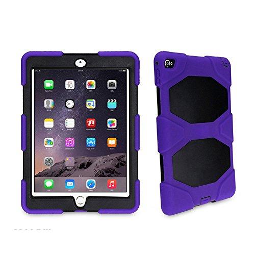 Bolkin® Hybrid Armor Series Shockproof Case Cover & Stand for Apple Ipad Air 2 / Ipad 6 (purple)