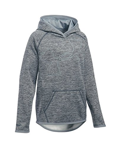 Under Armour Girls' Armour Fleece Novelty Jumbo Logo Hoodie, Stealth Gray/Steel, Youth X-Large