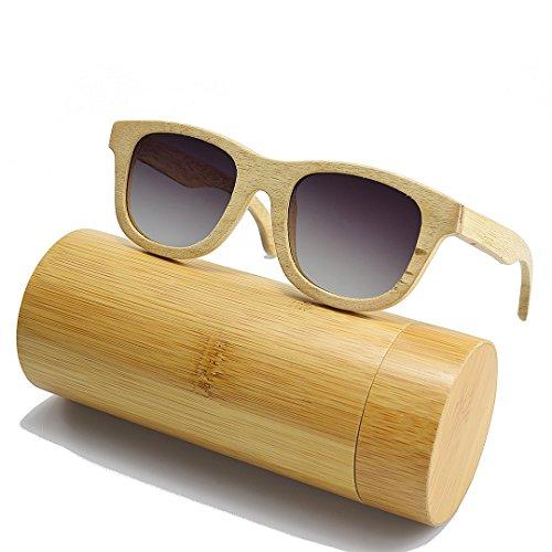 Madera de Polarized de Mujer Gafas BEWELL Sol UV Sunglasses Retro Eyewear Madera Camphorwood Wood G001A pxRqnB5n