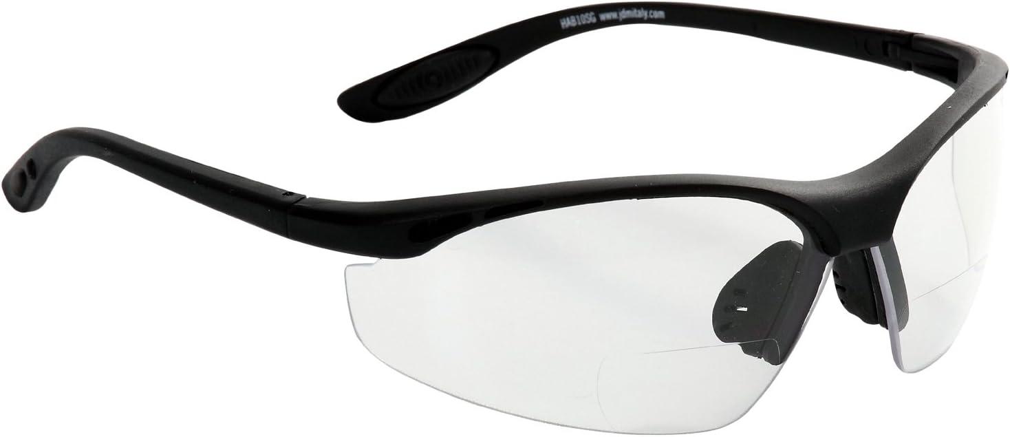 Eagle HATRSG25 Gafa de protección laboral con lentes de Policarbonato graduada de +2,5 dioptrías bifocal para vista cansada