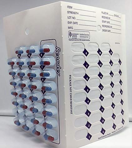 96 Refill Cards and 96 Blisters for 31 Day Monthly Cold Seal Blister Pack by Healthaccessories