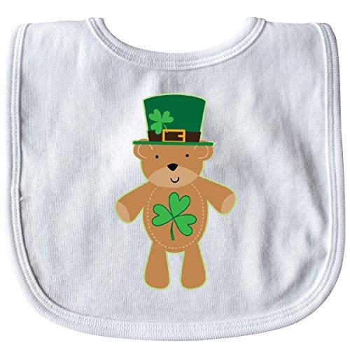 (Inktastic - St Patricks Day Irish Teddy Bear Shamrock Baby Bib White 288f6)