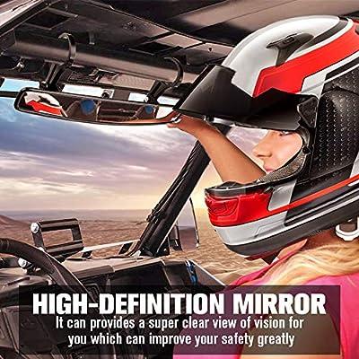 UTV Rear View Center Mirror, ISSYAUTO 15