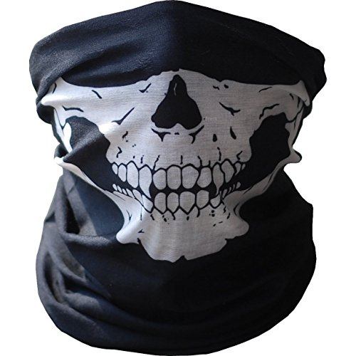 AStorePlus Super Face Masks, Essential Face MasksBlack Seamless Ghost Skull Face Mask Skiiing Warmer Mask Airsoft Paintball Tactical Game Mask Motorcycle Mask Style 1 Style Ghost