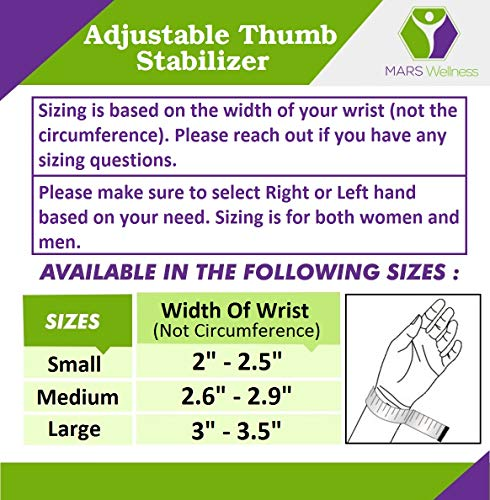 CMC Joint Thumb Arthritis Brace - Restriction Stabilizing Splint for Osteoarthritis and Other Thumb Pain Relief - Medium - Left Hand by MARS WELLNESS (Image #3)
