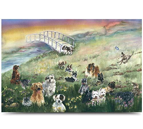 Rainbow Bridge Pet Sympathy Card for Dog