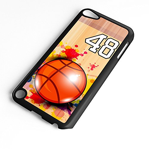 - iPod Touch Case Fits 6th Generation or 5th Generation Basketball #9600 Choose Any Player Jersey Number 48 in Black Plastic Customizable by TYD Designs