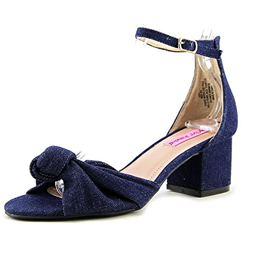 Womens Ankle Strap Fabric Denim Fab Casual Toe Open Ivee Sandals Johnson Betsey 01xq55